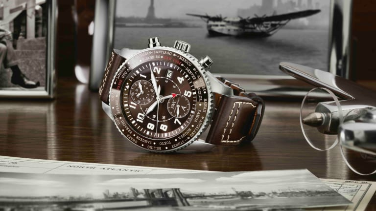 IWC marks the 80th anniversary of Antoine de Saint Exupéry's flight across the Atlantic