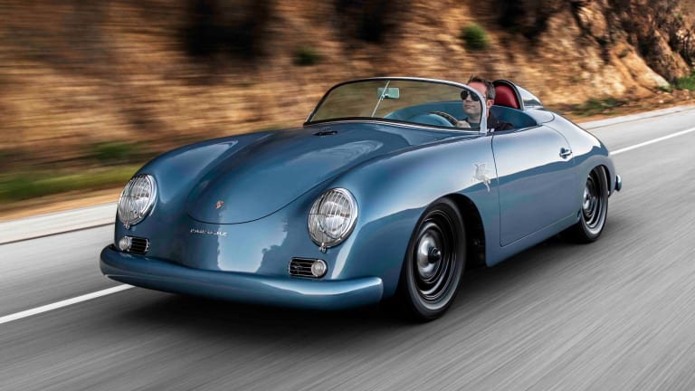 "Emory unveils his latest Outlaw, the 1959½ ""Transitional"" Speedster"