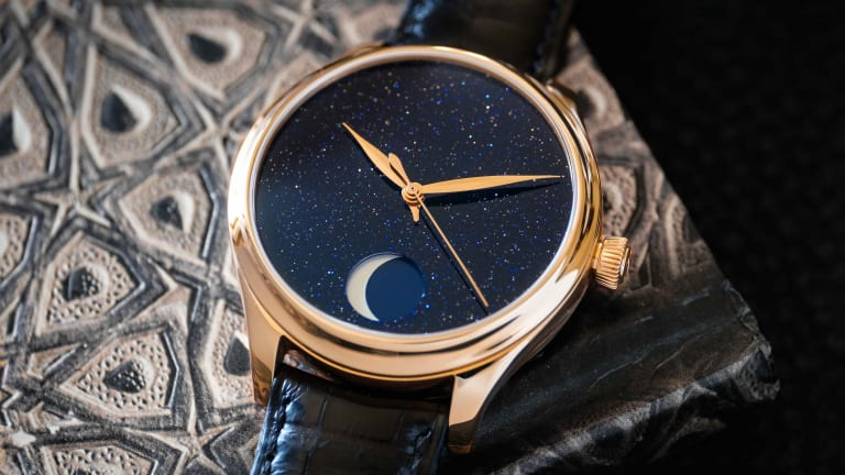 H. Moser & Cie. combines art and watchmaking precision with the Perpetual Moon Concept Aventurine