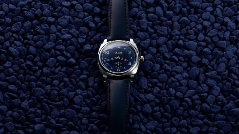 Fears' Brunswick Blue goes through 56 different processes to create their elegant dials