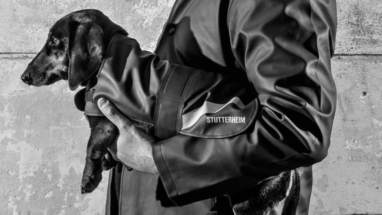 Stutterheim is introducing a new line of raincoats for dogs