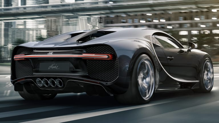 "The Bugatti Chiron explores its darker side with the limited edition ""Chiron Noire"""