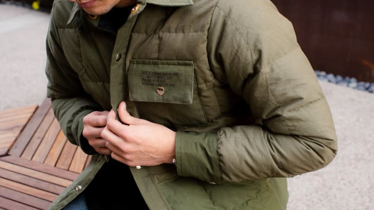 3sixteen closes the year off with a Down Shirt from Crescent Down Works