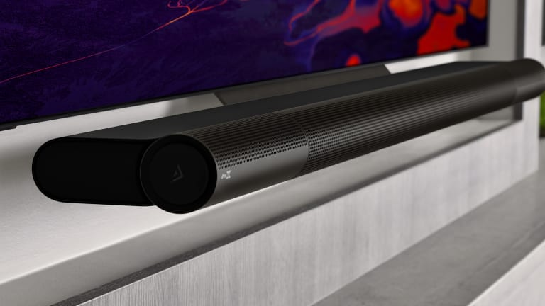 Vizio's Elevate Sound Bar has rotating speakers for an enhanced surround sound experience