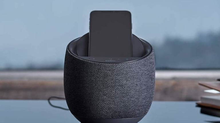 Belkin's Soundform Elite hides Devialet's powerful sound technology inside a compact smart speaker