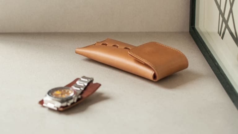 Convoy's Watch Pouch protects your timepiece in luxurious Buttero leather