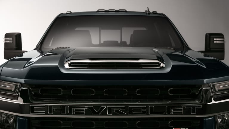 The 2020 Chevy Silverado HD has a grille that looks like it can swallow a planet