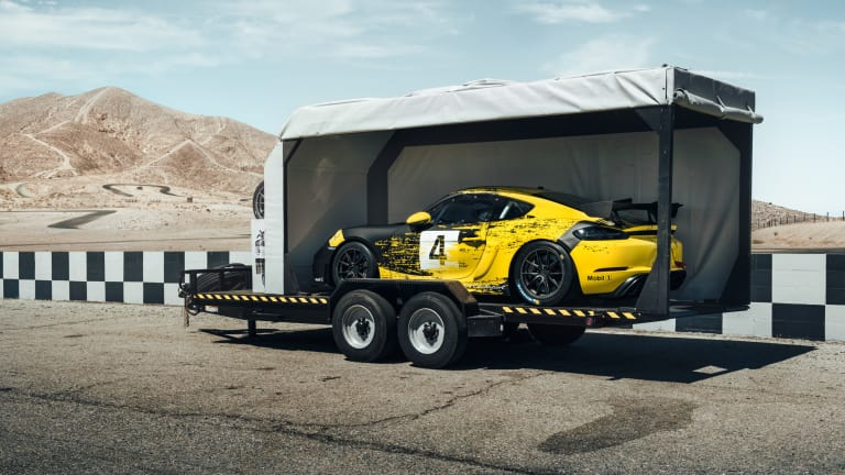 Porsche's new 718 Cayman GT4 Clubsport is the first to use natural-fiber composite material