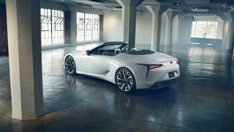 Lexus teases a convertible version of the LC coupe