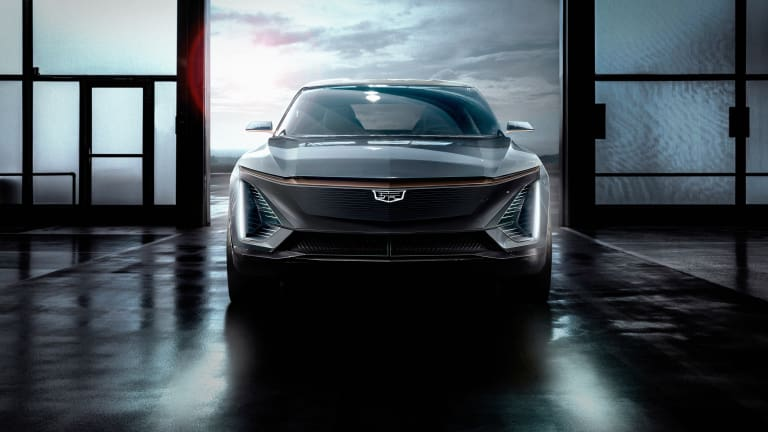 Cadillac teases its first fully electric vehicle