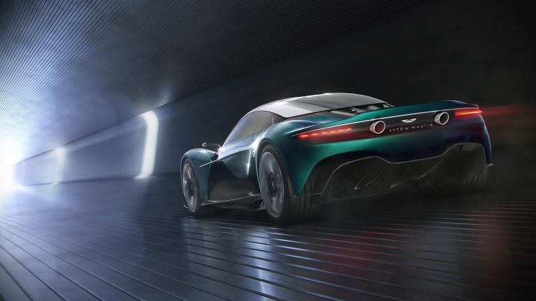 Aston Martin brings back the Vanquish with their first mid-engined production car