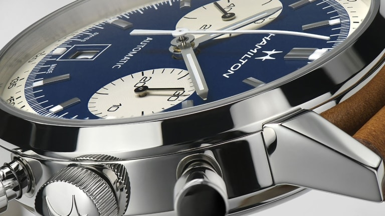 Hamilton updates the Intra-Matic with a blue panda dial