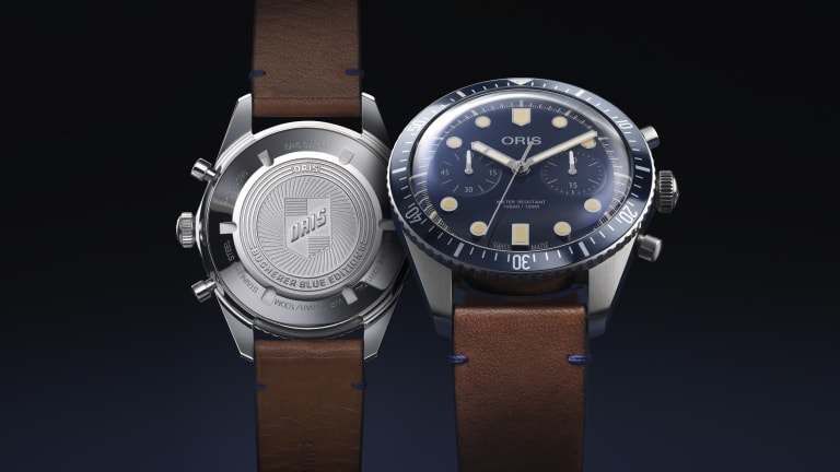 Oris' Divers Sixty-Five Chronograph joins the Bucherer Blue Editions collection