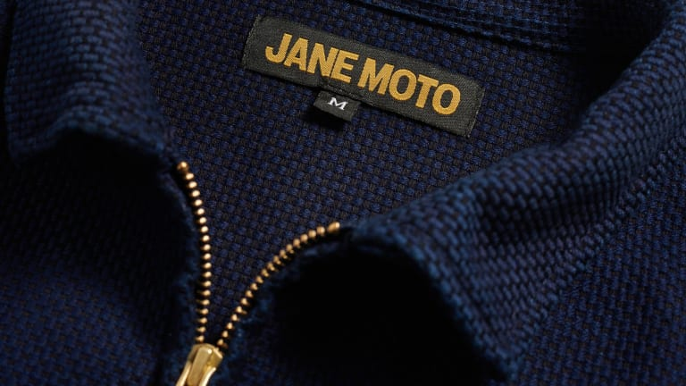 Jane Motorcycles brings Sashiko stitching to its Mechanic's motorcycle jacket