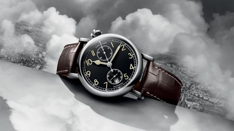 Longines updates the Avigation Watch Type A-7 1935 with a new black dial