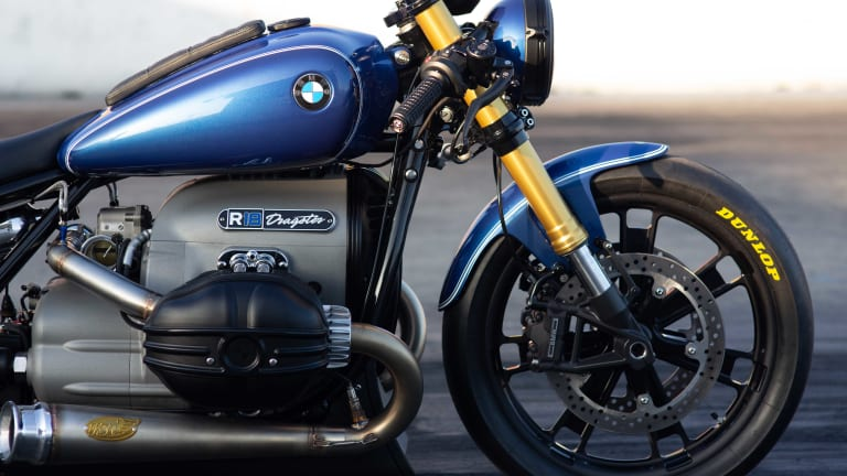 BMW Motorrad and Roland Sands reveal a dragster version of the BMW R 18