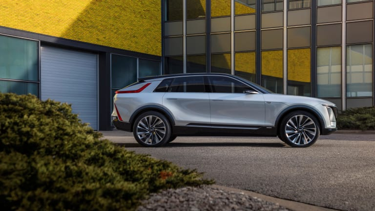 Cadillac previews its all-electric future with the LYRIQ show car