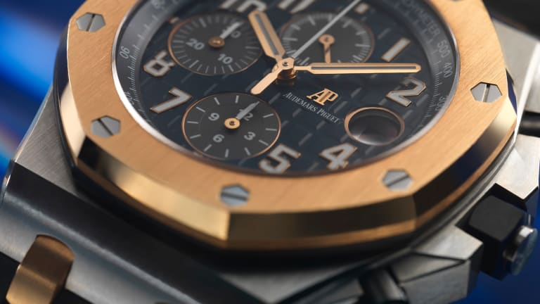 Audemars Piguet adds its Royal Oak Chronograph to the Bucherer Blue Collection