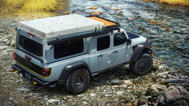 Jeep turns the upcoming Gladiator EcoDiesel into a rugged overlanding machine