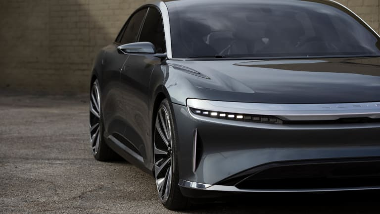 The Lucid Air plans to squash range anxiety with an estimated EPA range of 517 miles