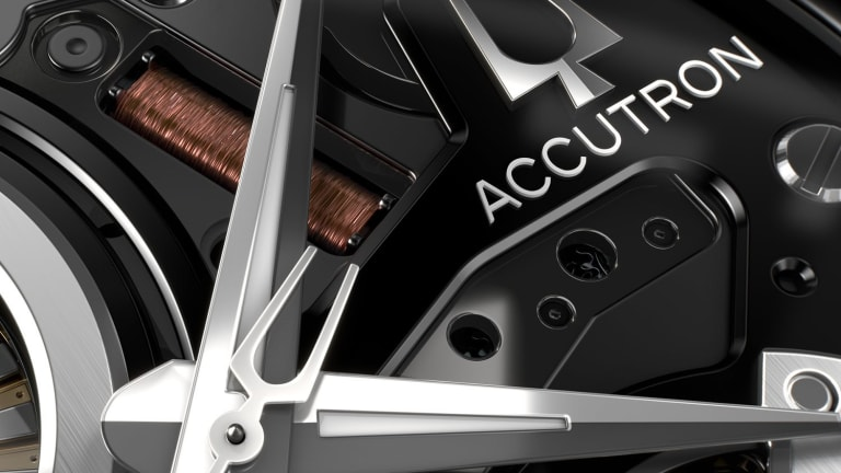Accutron shows off its electrostatic movement in its new DNA timepiece