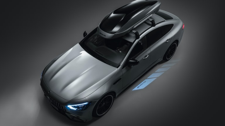 Mercedes-AMG created an aerodynamic roof box for its high-peformance vehicles