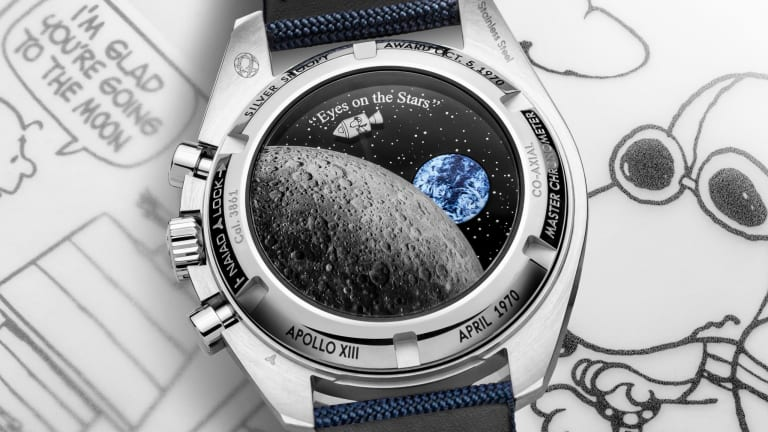 Omega takes Snoopy back into space with its latest Speedmaster