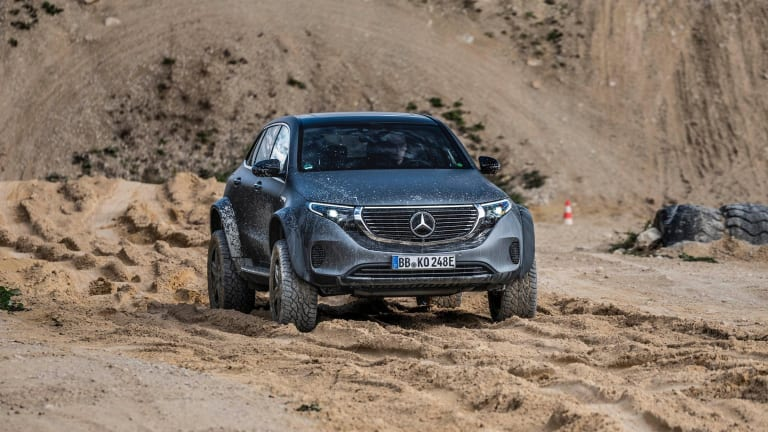 Mercedes takes its all-electric SUV off-road with the EQC 4x4²