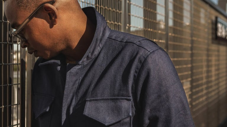 Taylor Stitch and Alpha Industries team up on an indigo version of the M-51