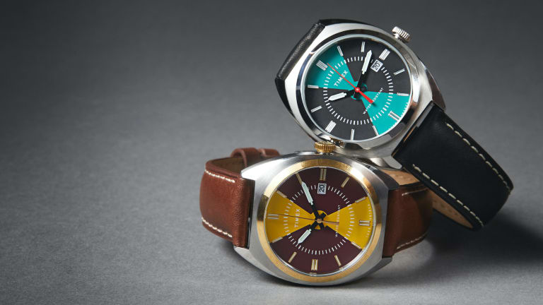 Todd Snyder and Timex release a new version of the Milano with bold color blocking