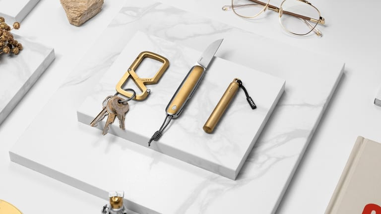 The James Brand adds a brass finish to its EDC collection