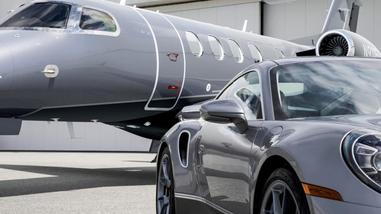 Porsche reveals a limited edition 911 Turbo S for buyers of the Embraer Phenom 300E business jet