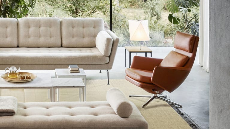 Vitra launches its new olive leaf tanned leather