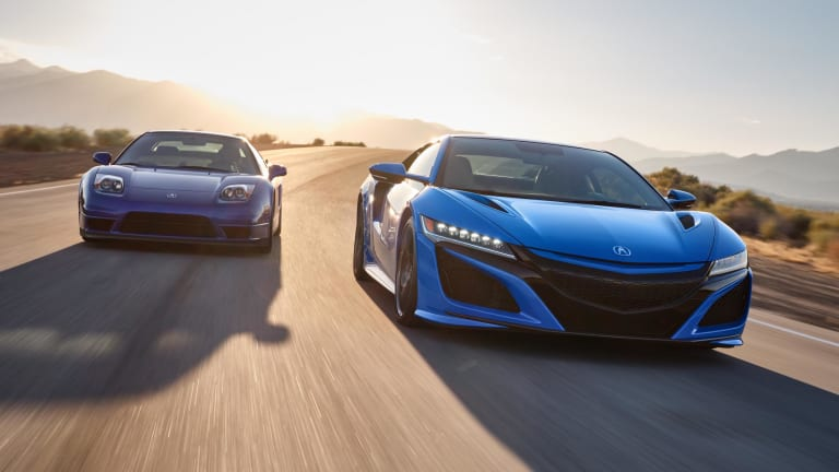 Acura adds Long Beach Blue to its heritage-inspired paint collection for the NSX