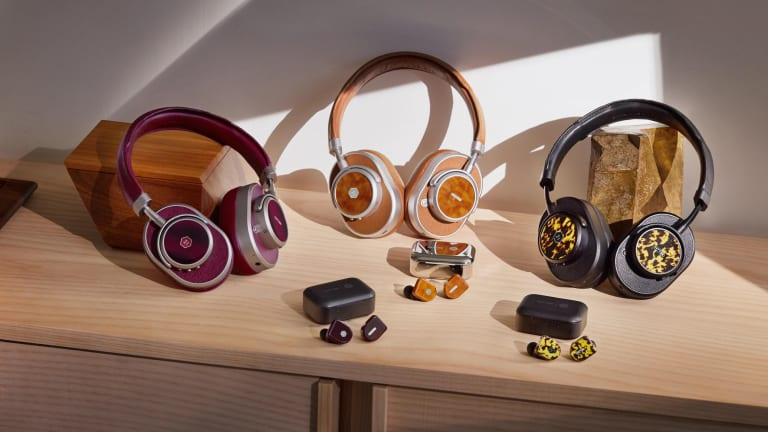 Oliver Peoples brings its luxurious acetate to Master & Dynamic's headphones
