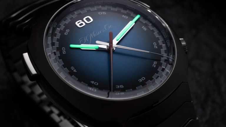 H. Moser's Streamliner receives the brand's signature Funky Blue fume dial
