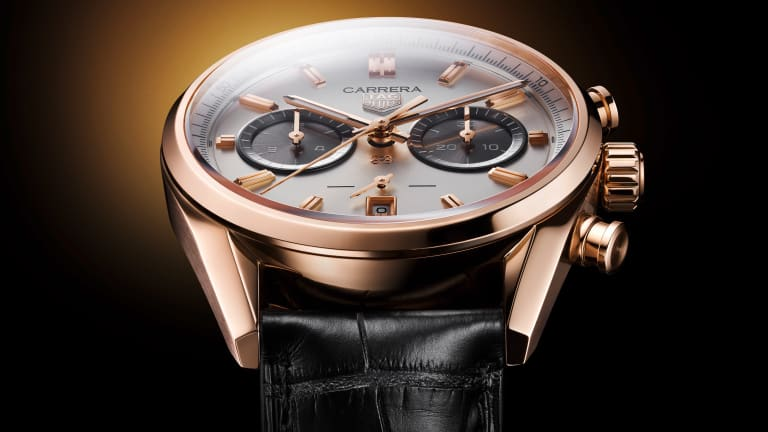 Tag Heuer celebrates Jack Heuer's birthday with a limited edition gold Carrera Chronograph