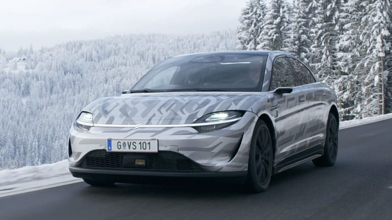 Sony shows off a road-ready version of their VISION-S electric car