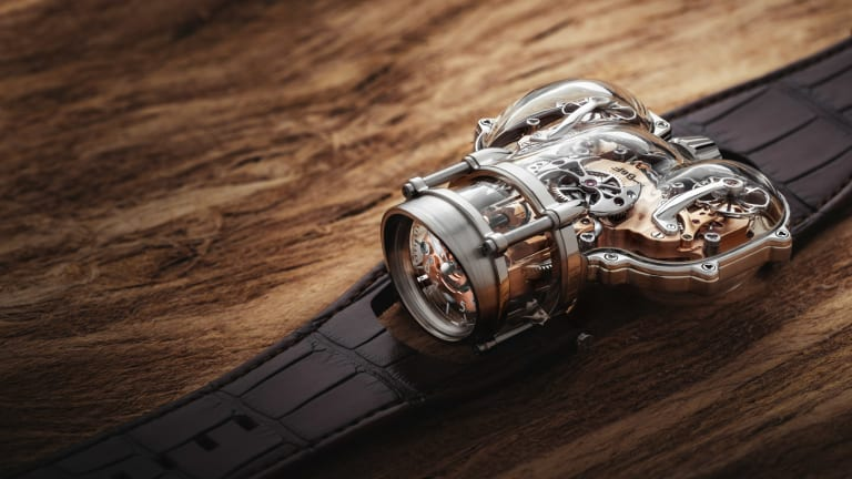 MB&F housed its latest HM9 in a case of sapphire crystal