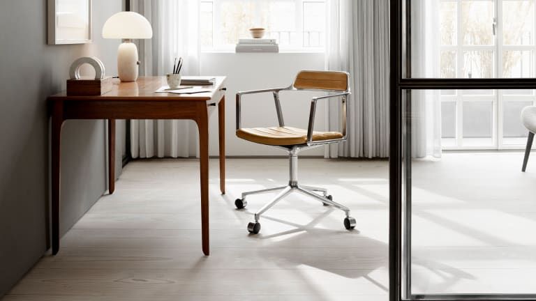 Vipp updates its original chair with a swivel design for your home office
