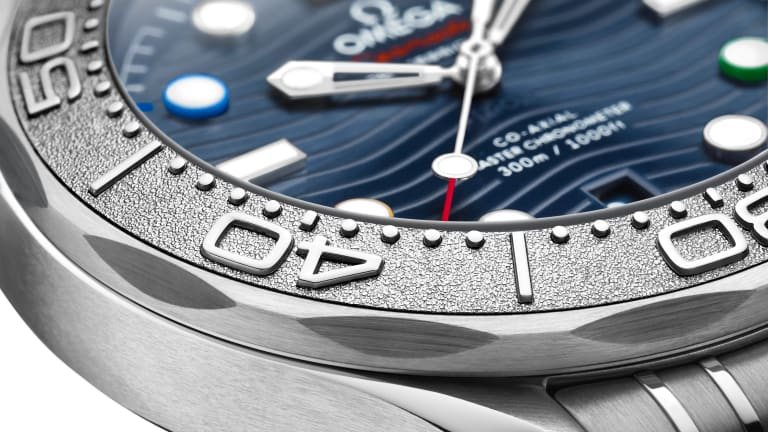 Omega accents the Seamaster Diver 300M with the colors of the Olympic Rings