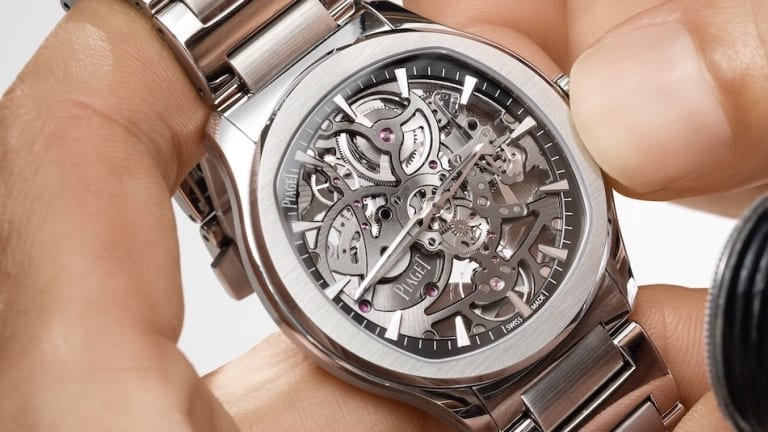 Piaget shows off its expertise in crafting complex, ultra-thin movements with the Polo Skeleton