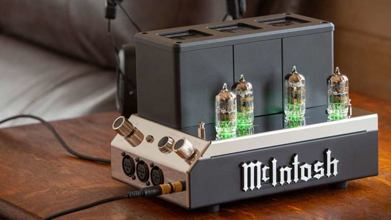 McIntosh launches a new vacuum tube headphone amplifier with a desk-friendly footprint