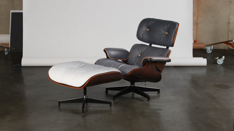 Reed Art Department and Parc reimagine the Eames Lounge Chair with a NY-inspired gradient leather