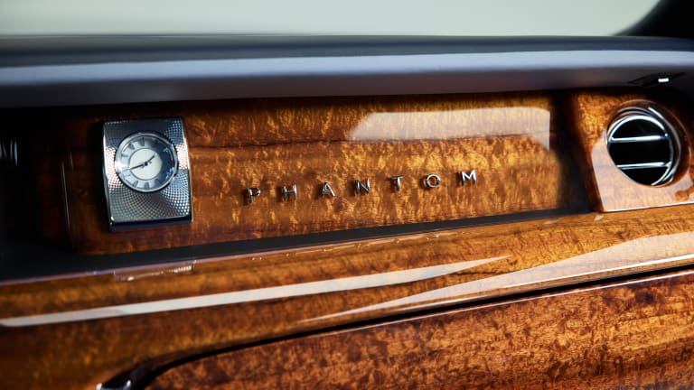 Rolls-Royce shows off a recently commissioned Phantom with a custom Koa Wood interior