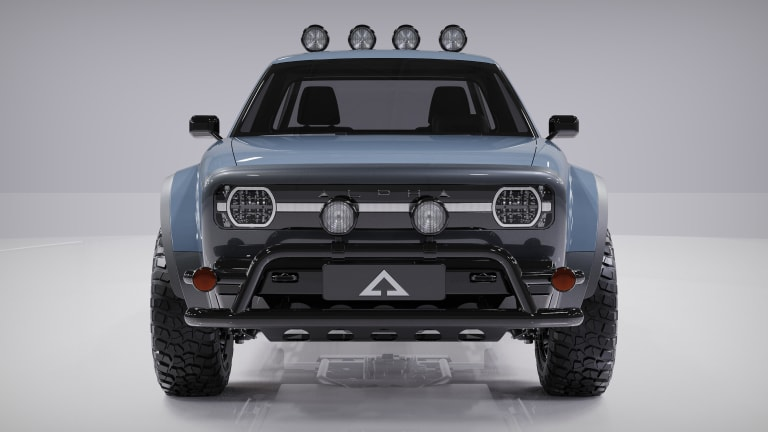 Alpha Motor has captured the spirit of trucks from the 90s in the new Alpha Wolf