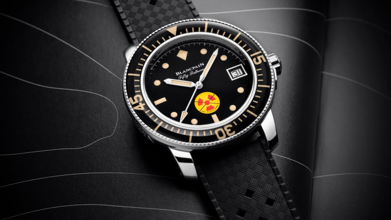 Blancpain brings back a classic dive watch with the Fifty Fathoms No Rad