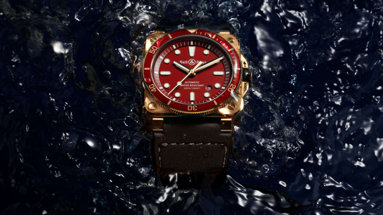 Bell & Ross adds a new red colorway to its Diver Bronze collection
