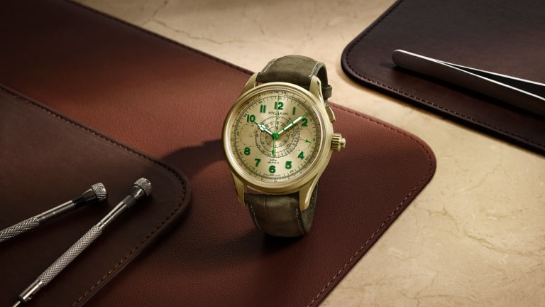 Montblanc created a new gold for its latest 1858 Split Second Chronograph