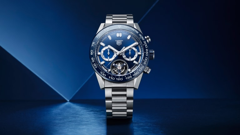 Tag Heuer releases their Carrera Heuer 02T tourbillon chronograph in blue